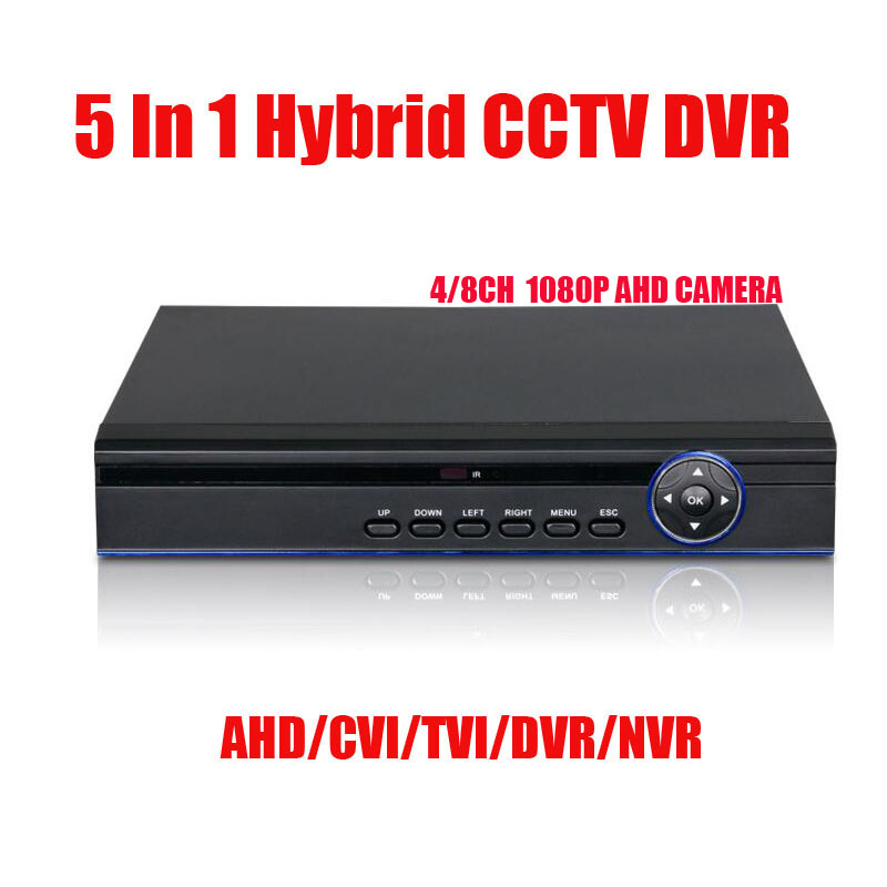 цена на 5 IN 1 DVR 4Ch 8Ch 1080P AHD CVI TVI CVBS 16CH 1080P NVR  Security CCTV DVR NVR HVR Hybrid  Onvif Max 6TB 1* SATA interface