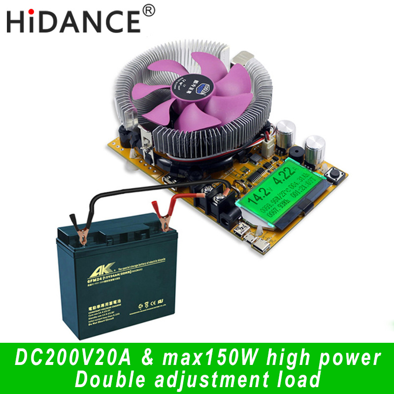 150Wデジタルバッテリー容量テスター電圧計調整可能な定電流電子負荷充電器USBメーターメーターインジケーター