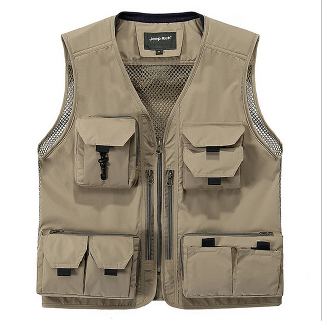 Men's Vests Multi Pocket Tactical Military Waistcoat Summer Photography Sleeveless Jacket M-4XL