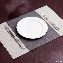 Набор из 4 столовых приборов, кухонные столовые коврики, Нескользящие Коврики для посуды, жаростойкие к пятнам настольные декоративные коврики
