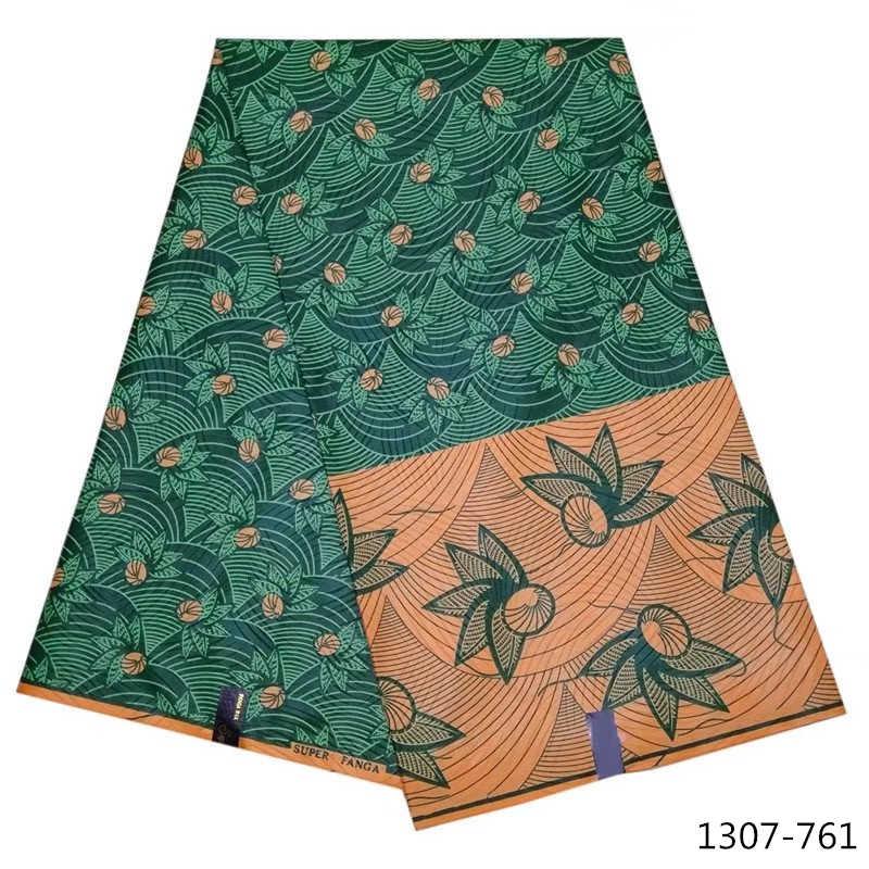 Nigeriano cera ankara tessuto 2019 100% Poliestere cotone stampato tessuto africano del commercio all'ingrosso reale cera java 1307-651