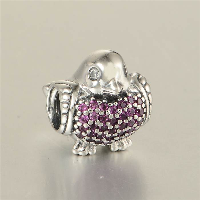 51aa59ddb New Animal Robin Charms With Red & Clear CZ Pave Bird Charm 925 Sterling  Silver Jewelry Suitable for Pandora Charm Bracelets-in Beads from Jewelry  ...