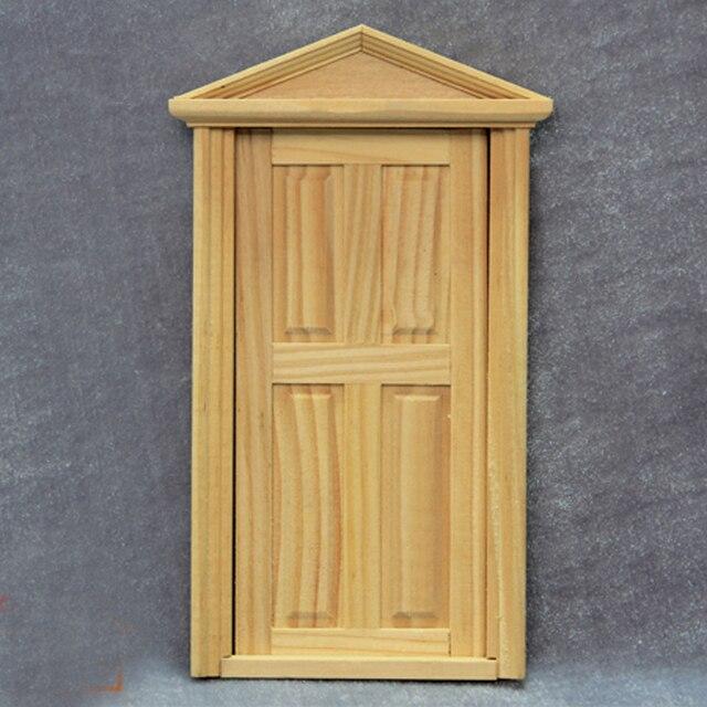 FAI DA TE Porta interna In Legno Dollhouse Miniature 4 Panel Scala 1 ...