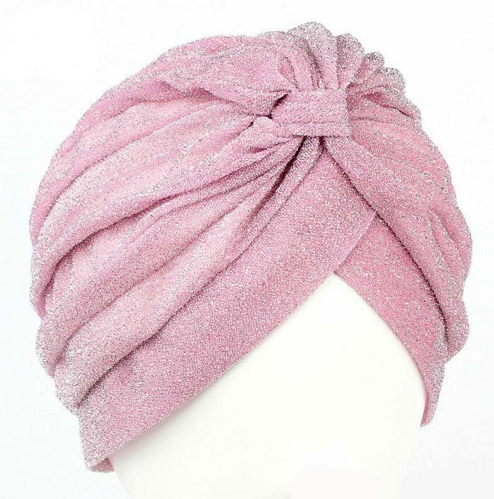 New Arrival Women Hats Shining turban dome cap head wrap Hijab Hair Loss Cancer Headwrap Muslim Hats Chemotherapy Alopecia Caps цена и фото
