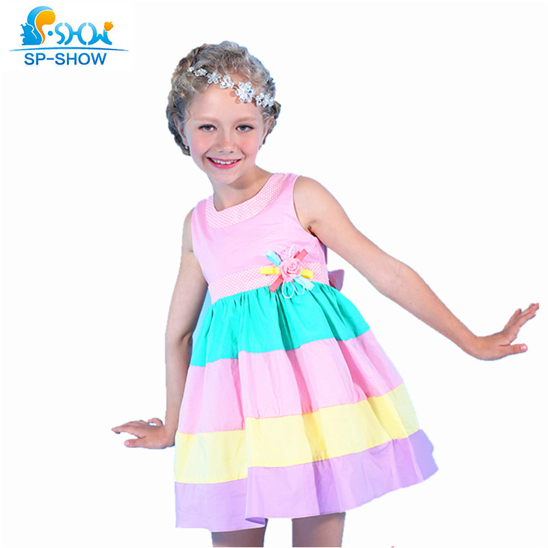 100% Cotton Girls Summer Dress For 5-13 Age Reine Des Neiges Girls Clothes Children Clothing Vestidos Infantis 8097