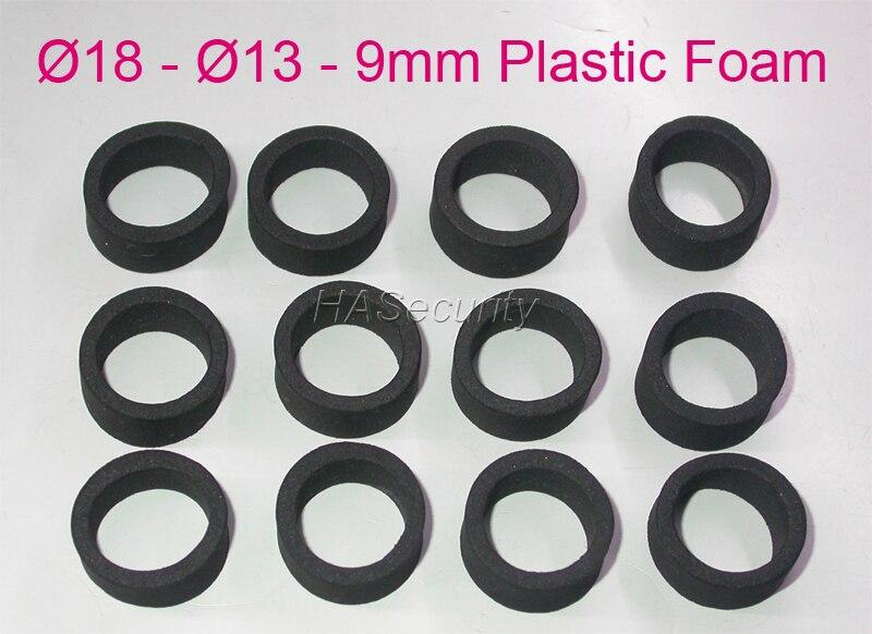 18-13-9 мм (12 шт.), пластиковая Пена/прокладка для объектива видеонаблюдения для блокировки ИК-освещения, установка камеры безопасности в сборе
