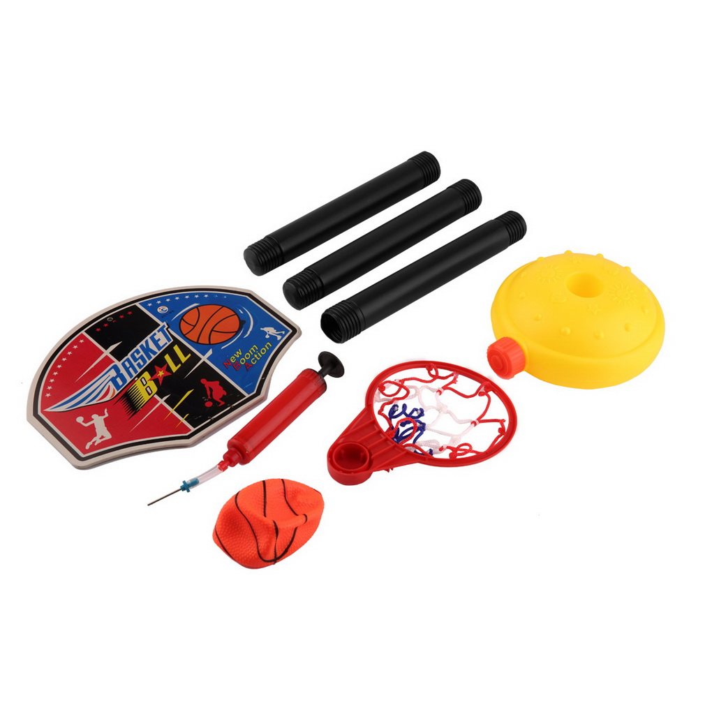 Kids Children Mini Adjustable Basketball Stand & Balls Pumps Set with Inflator Toys for Boys Outdoor Fun & Sports Toy P15