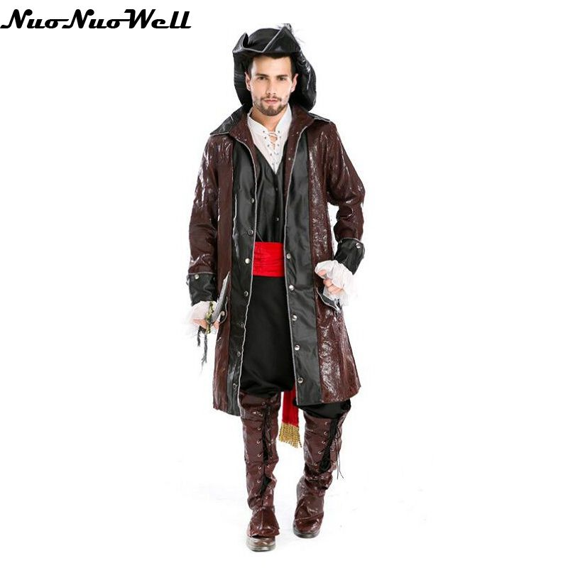 Halloween Pirates Of Caribbean Role Playing Clothing Captain Jack Sparrow Costume