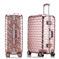 5 Sizes Aluminum Frame Luggage Suitcase 20 25 29 Carry On Luggage Hardside Rolling Luggage Travel Trolley Luggage Suitcase