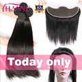 Brazilian Straight Hair With Lace Frontal Remy Human Hair Bundles With Lace Closure 8A Hanne Grace Hair Products With Frontal