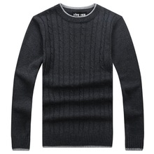 RICHARDROGER  2017 New Autumn Fashion Sweater O-Neck Striped Slim Fit Knitting Mens Sweaters And Pullovers 2-26