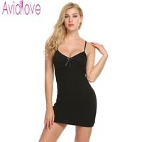 Avidlove хлопок Sleepdress сексуальное платье ночи Для женщин Ночная рубашка летние рубашки плюс Размеры Ночная сорочка Lounge сна сорочка Femme