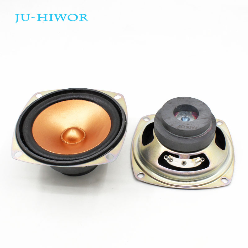 2pcs 4 Ohm 10W Loudspeaker 78MM 3 Inch Square Golden Speaker Bullet Cap 45MM External Magnetic Double Magnet Height 40MM2pcs 4 Ohm 10W Loudspeaker 78MM 3 Inch Square Golden Speaker Bullet Cap 45MM External Magnetic Double Magnet Height 40MM
