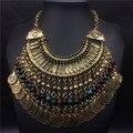 Старинные национальные монета в форме кисточкой ожерелье мода женщины ювелирные изделия 2016