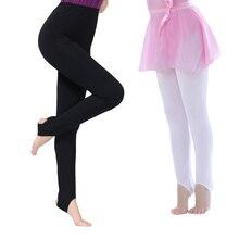Meninas Miúdos Adultos Ballet Estribo Calças Justas do Algodão Spandex Ginástica Calças de Fitness De Dança para Crianças Ballet Meia-calça