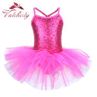 Ballerina Fee Prom Party Kostüm Kinder Pailletten Blume Kleid Mädchen Dance wear Gymnastik Ballett Trikot Tutu Kleid
