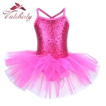 eef3e08bc76c Ballerina Fairy Prom Party Costume Kids Sequined Flower Dress Girls Dance  wear Gymnastic Ballet Leotard Tutu