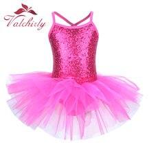 Disfraz de hada bailarina para fiesta de graduación, vestido de flor de lentejuelas para niños, Ropa de baile para niñas leotardo de Ballet y gimnasia, tutú