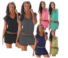 2017 Women Jumpsuits Summer V-neck Sleeveless Casual Siamese Pants Fashion Beach