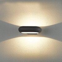Вт 10 шт. 8 Вт современный минималистский творческий Nordic открытый водостойкий настенный светильник проход коридор двойной головы вверх и вни