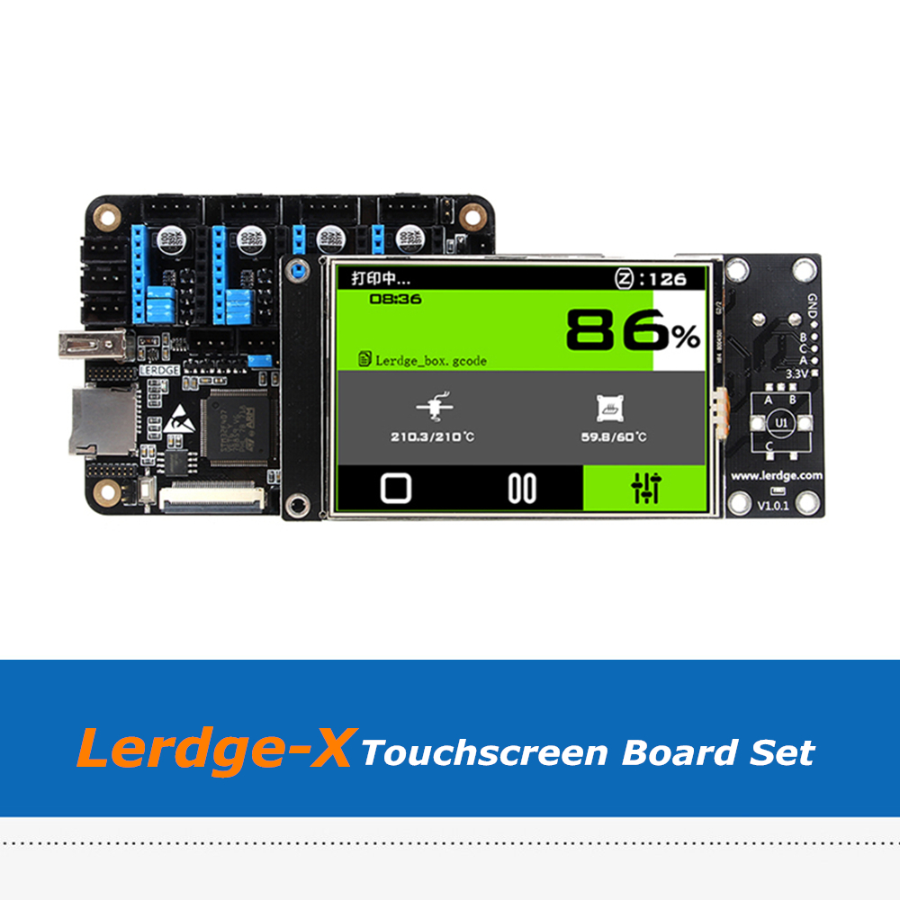 Lerdge X 3.5 Inch Full Color Touch Screen Thermistor 3D Printer Board Compatible With A4988/Drv8825/TMC2100/LV8729/TMC2208