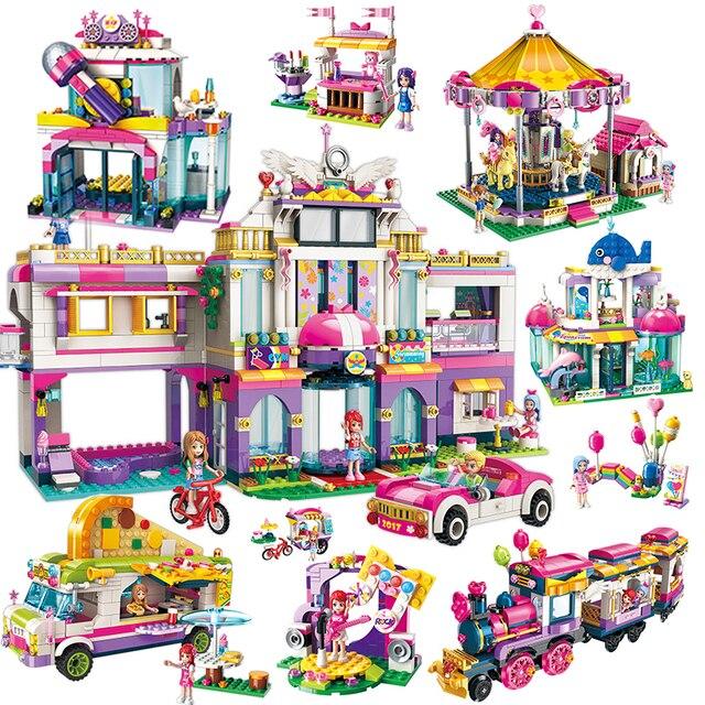 Город Heartlake замок игровая площадка строительные блоки кирпичи наборы Развивающие игрушки для девочек совместимый подарок с Legoings Friends
