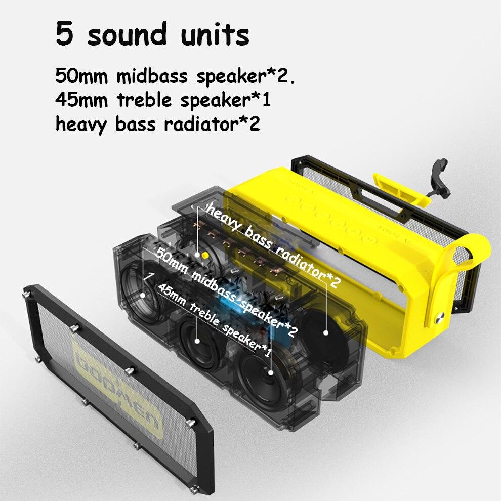 Caisson de basses ultra sono partie DJ camp haut-parleurs Pro Portable sans fil Bluetooth haut-parleur home cinéma étanche en plein essor basse - 5