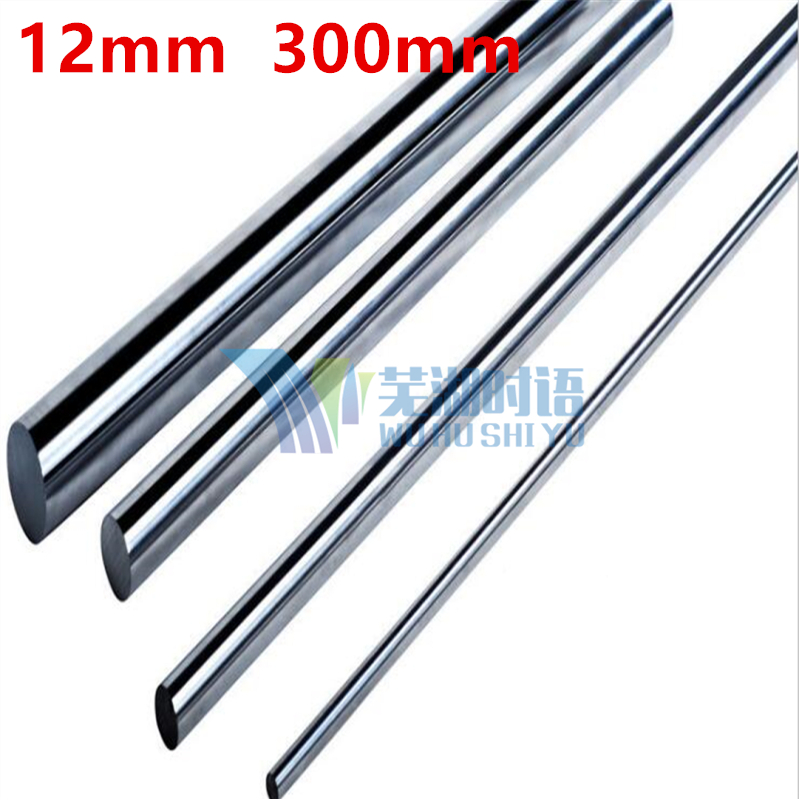 4pcs/lot  3D printer rod shaft 12mm linear shaft 300mm chrome plated linear motion guide rail round rod shaft for cnc parts диски helo he844 chrome plated r20