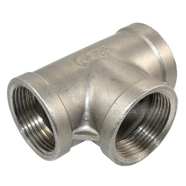 Aliexpress buy quot tee way threaded pipe