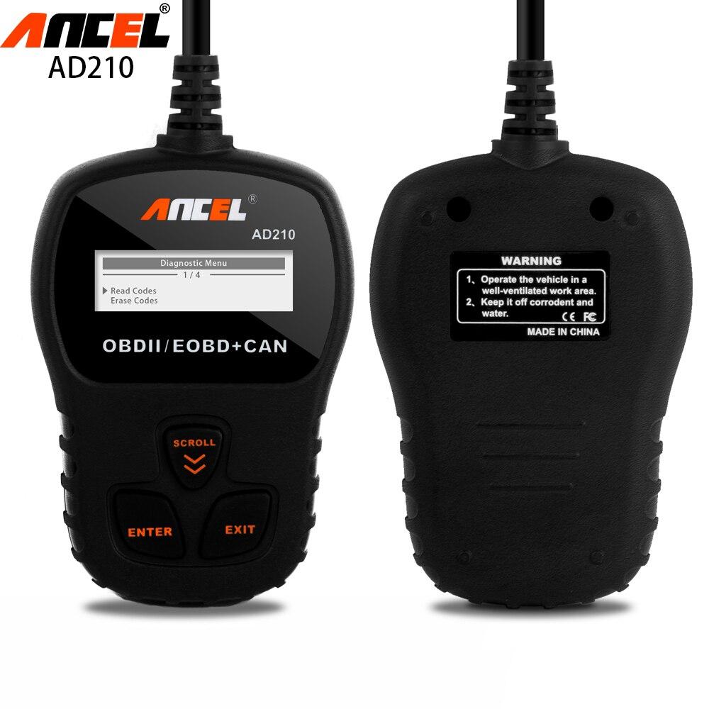 ФОТО ANCEL AD210 Mini Code Reader OBDII/EOBD+CAN Fault Code Scanner Hand-Held Engine Analyzer Universal Auto Car Diagnostic Tool