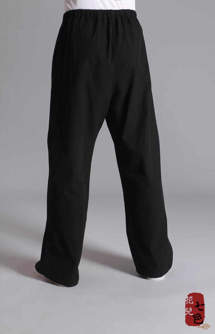 純粋な綿カンフースポーツパンツ練習古い粗い男性唐のスーツ通気性ズボン中国traditiona太極拳レジャーパンツ