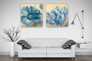 GLA-103391-AzureGardenI Giclee prints by style Decorative art wall pictures for living room