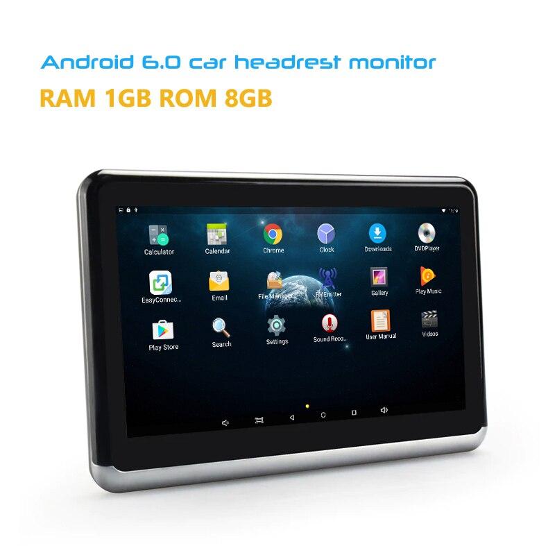 מסכי LCD YAZH 10.2 אינץ אנדרואיד 6.0 עם מסך מגע נגן CD DVD IPS 1366 * 768 TFT-LCD מסכי משענת הראש רכב עם WIFI Bluetooth Mirror Link (3)