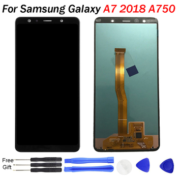 For SAMSUNG GALAXY A7 LCD Display A7 2018 A750 A750F Screen SM-A750F Display Touch Screen Digitizer Assembl For SAMSUNG A750 LCD