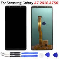 For SAMSUNG GALAXY A7 LCD Display A7 2018 A750 A750F Screen SM A750F Display Touch Screen Digitizer Assembl For SAMSUNG A750 LCD