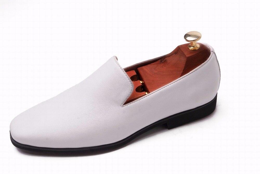 Schuhe Neue Design Männer Mens Atmungsaktive Schuh Vollleder Formal weiß Schwarzes Business Kleid Echte 1 E8581 Top Eioupi A7w47