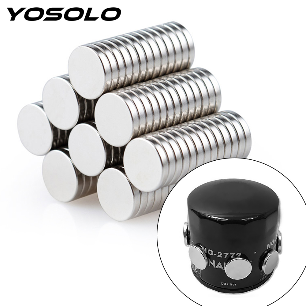 YOSOLO 2 Pieces Magnet Fuel Economizer Car Engine Oil Filter ATV SUV Motocycle Engine Oil Saver Strong Adsorption For Iron Body