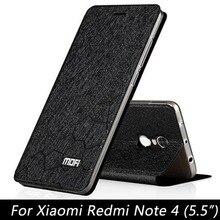 Для Xiaomi Редми Примечание 4x крышки случая кремния Note4x MOFi Xiomi редми Примечание 4 x случай кожи сальто coque средства черное золото
