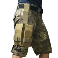 Tactical M4 5 56mm Double Pistol Magazine Mag Carrier Pouch Bag Rifle Drop Leg Platform Nylon