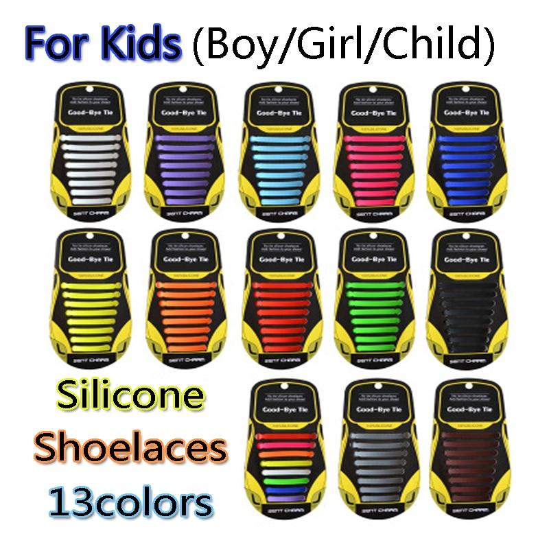 12pcs/lot Silicone Shoelaces Elastic Shoe Laces Special No Tie Shoelace for Kids Child Lacing Rubber Zapatillas 13 Colors12pcs/lot Silicone Shoelaces Elastic Shoe Laces Special No Tie Shoelace for Kids Child Lacing Rubber Zapatillas 13 Colors