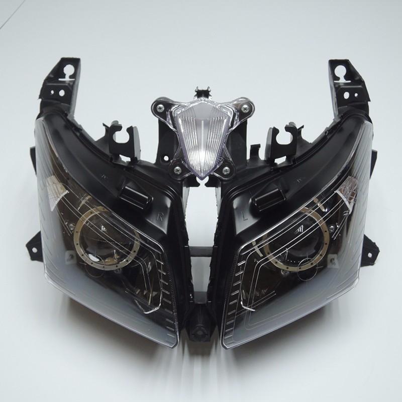 TMAX 530 2012 2013 2014 Front Headlight Head Light  Headlamp For Yamaha T-MAX530 TMAX530 2012 2013 2014 Clear (4)