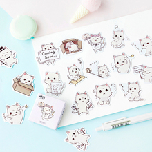 45PCS/PACK Kawaii Cute Cat Sticker Marker Planner Book Diary Decorate Stationery Stickers Scrapbooking Bullet Journal sl1540