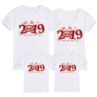 1 Piece Family Mother Daughter T shirts Summer Cartoon Animals And 2019 Tshirt Matching Mother Father Son Mommy And Me Clothes