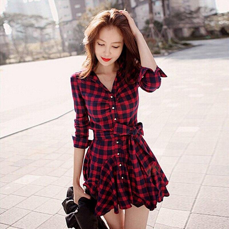 Vestidos a cuadros rojo y negro