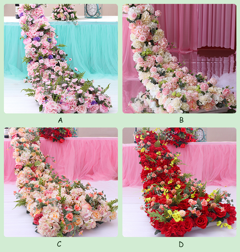 JAROWN Wedding Props Flower Row Trailing Floral Set Flower Wall Welcome Area Stage Layout Decor Home Party Decoration (15)
