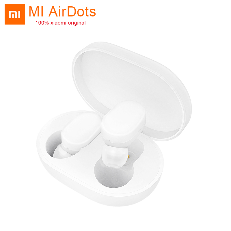 In stock Original MI Xiaomi Wireless AirDots Bluetooth Earphone Youth Version stereo Mini Headphones With Mic