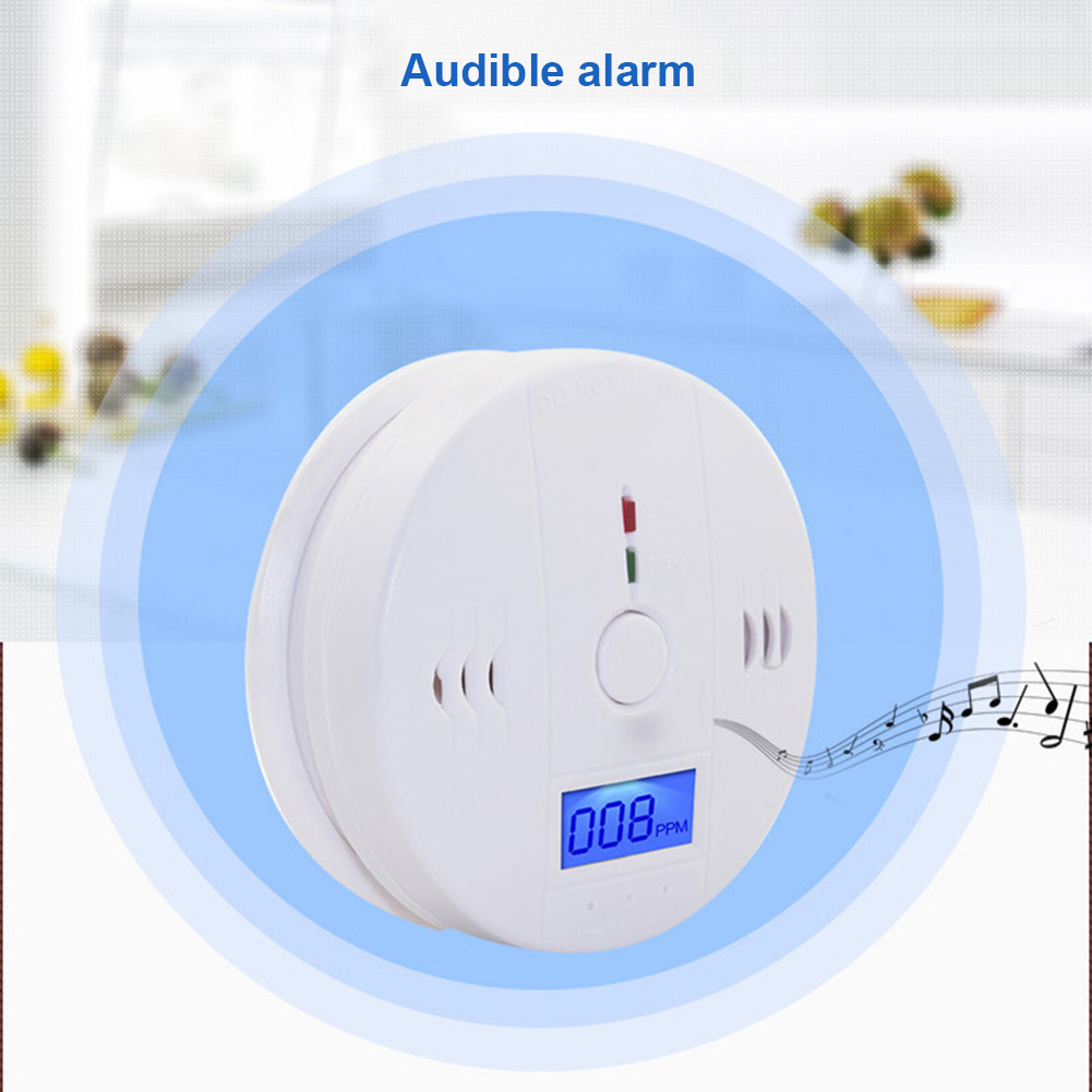 LCD CO Carbon Monoxide Smoke Detector Alarm Poisoning Gas Warning Sensor Monitor Device LCC77 цена