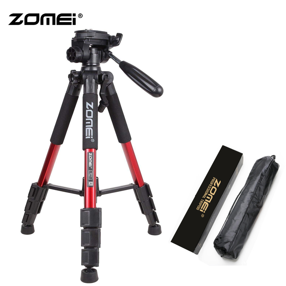 Zomei Red Q111 Lightweight Tripod Professional Portable Travel Camera Stand with Pan Head Carry Bag for SLR DSLR Digital CameraZomei Red Q111 Lightweight Tripod Professional Portable Travel Camera Stand with Pan Head Carry Bag for SLR DSLR Digital Camera