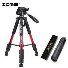 Zomei Red Q111 Lightweight Tripod Professional Portable Travel Camera Stand with Pan Head Carry Bag for SLR DSLR Digital Camera недорого
