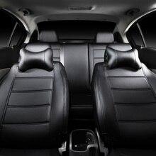Custom leather car seat cover For HYUNDAI GALLOPER LANTRA MATRIX PONY S-COUPE SANTA-FE SOLARIS styling accessories